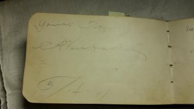 CA VanHarten autograph