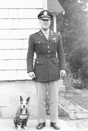 Spats with Lt. Daniel Wilson, April 1944
