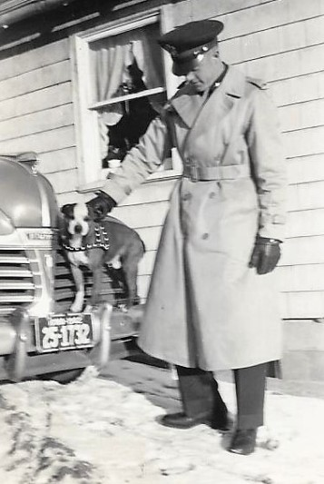Spats with Lt. Dale Wilson, February 1943