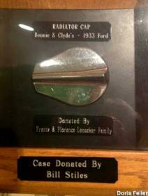 Gas cap stolen from Clyde's car, donated to the museum